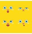 set - smiley faces vector image