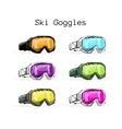 Ski googles sketch for your design vector image