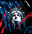 statue of liberty head vector image