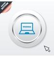 Webinar laptop sign icon Notebook Web study vector image
