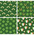 irish patterns vector image vector image