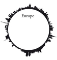 Europe Circular background vector image vector image