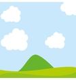 beautiful field landscape drawn vector image