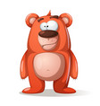cute funny bear characters vector image