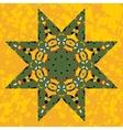 Islamic ornamental green star lace ornament vector image