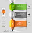 Modern spiral pencil staircase Infographics vector image