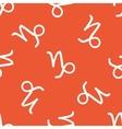 Orange Capricorn pattern vector image