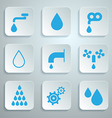 Water Symbols - Icons Set vector image