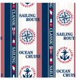 Sailing pattern vector image vector image