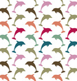 Colorful dolphin pattern vector image vector image