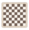 wooden chess board vector image
