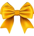 Golden Bow And Ribbon Gift Isolated On White vector image vector image