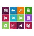 Real Estate icons on color background vector image vector image