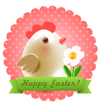 Easter greetings postcard vector