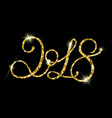 2018 gold glitter texture on black background vector image