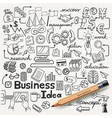 Business Idea doodles icons set vector image vector image