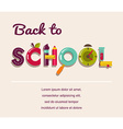 Back to school - text with icons concept vector image