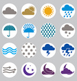 Weather icons set simplistic symbols collections vector image