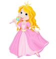 Princess licks lollipop vector image