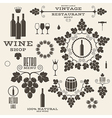 Wine Vintage Isolated labels and icons vector image vector image