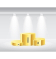 Gold winners podium isolated vector image