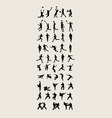 Sport and Activity Silhouettes vector image