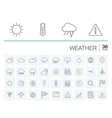 Meteo and weather icons vector image