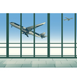 aircraft in sky vector image