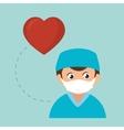 avatar medical nurse man vector image