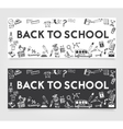 Back to School Concept Banner vector image