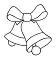 Jingle bells with bow vector image