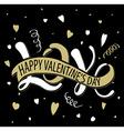 Love - Happy Valentines day vector image