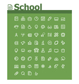 School icon set vector image