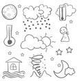 weather set doodles vector image