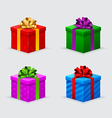 gift boxes for a birthday or new year with bows vector image