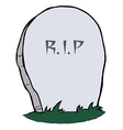 Tombstone vector image