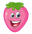 a strawberry with a face vector image vector image