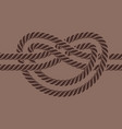 Sea boat rope knot isolated vector image