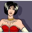 Portrait of extravagant sexy woman cabaret theme vector image