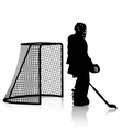 Silhouettes of hockey player Isolated on white vector image