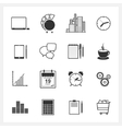 Icons collection of web design objects vector image