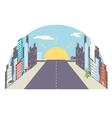 City flat vector image