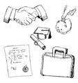 set of business objects vector image vector image