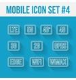 Mobile telecommunications technology symbol 10 vector image
