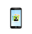Icon Touchscreen Smart Phone vector image vector image