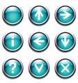 turquoise buttons with signs vector image vector image
