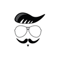 face with mustache cartoon vector image