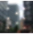 Blur lights city background vector image