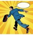 Businessman quickly comes forward vector image