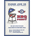 Barbecue party invitation and response card vector image vector image